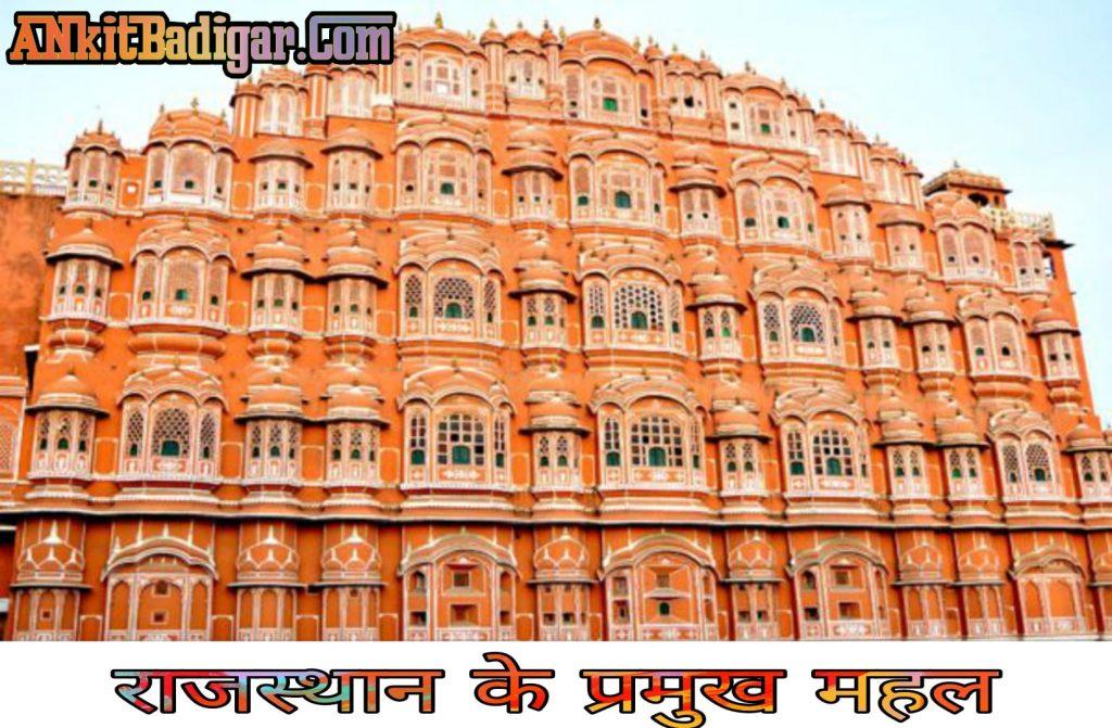 Rajasthan ke Mahal Notes in Hindi 2021