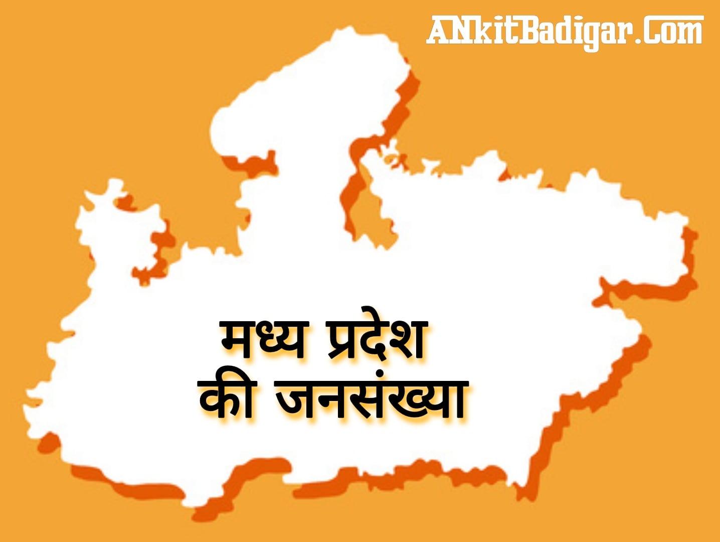 MP Madhya Pradesh Ki Jansankhya kitni hai